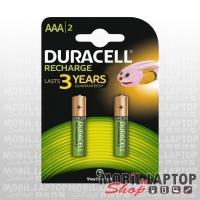 Elem Duracell Akkumulátor AAA HR03 1,2V 750mAh (2db/csomag)