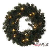 Emos ZY2244 40cm/20 LED/meleg fehér/fenyő koszorú dekoráció