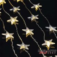 Emos ZY2263 0.9x1.2m/30 LED/meleg fehér/villogó csillag fényfüzér