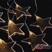 Emos ZY2264 84x45cm/8 LED/meleg fehér/akril csillag fényfüzér
