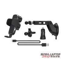 """Hama 188300 """"FC-10 Motion"""" vezeték nélküli tötlő funkcióval autós mobiltartó"""