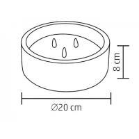 Home CDL 20 3 LED-es kő mécses