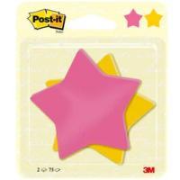 Post-it Csillag alakú 2x75lap 70,5x70,5mm öntapadó jegyzettömb