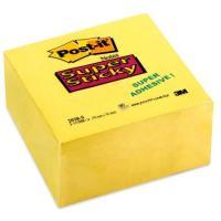 Post-it Super Sticky 76×76mm 350lap erős ragasztós nárcisz sárga jegyzetkocka