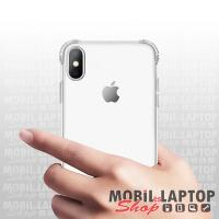 """Szilikon tok Apple iPhone XR ( 6,1"""" ) erősített sarkokkal ütésálló átlátszó"""