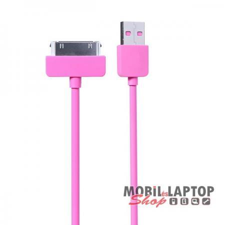 Adatkábel Apple iPhone 2G / 3G / 3GS / 4 / 4S és iPad 1 / 2 / 3 és iPod rózsaszín / lila