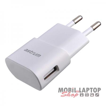 Astrum CH120 fehér hálózati töltőfej 5V 1.0A 1xUSB A92512-Q
