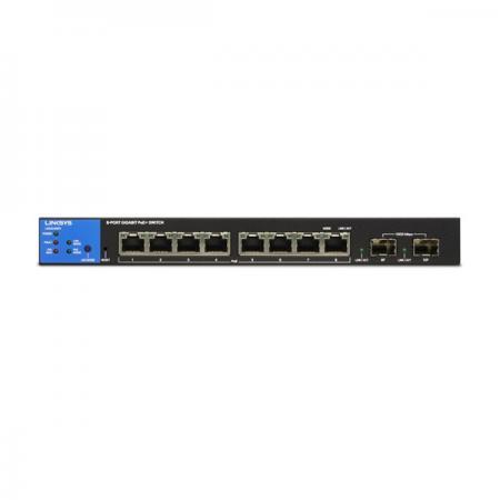 Linksys SMB LGS310MPC 8port POE+ GbE LAN +2 SFP Port Smart menedzselhető asztali Switch