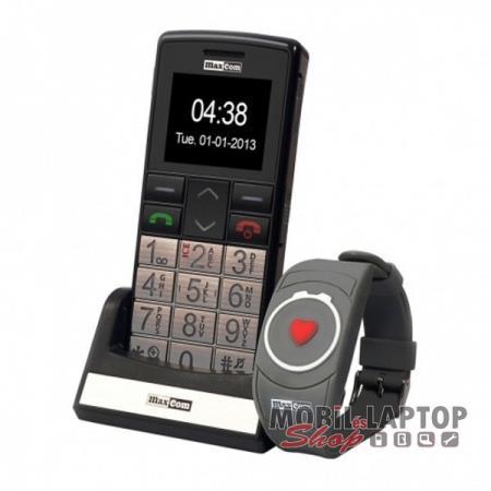 Maxcom MM715BB idősgondozó mobiltelefon SOS karpereccel ezüst FÜGGETLEN 9c7087dd77