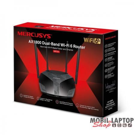 Mercusys MR70X AX1800 Wi-Fi 6 Dual-Band Vezeték nélküli Gigabit Router